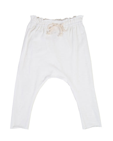 raw edge harem pants - natural