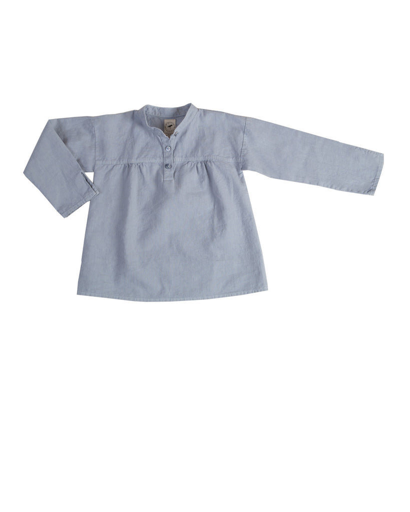 long sleeve blouse - mist blue