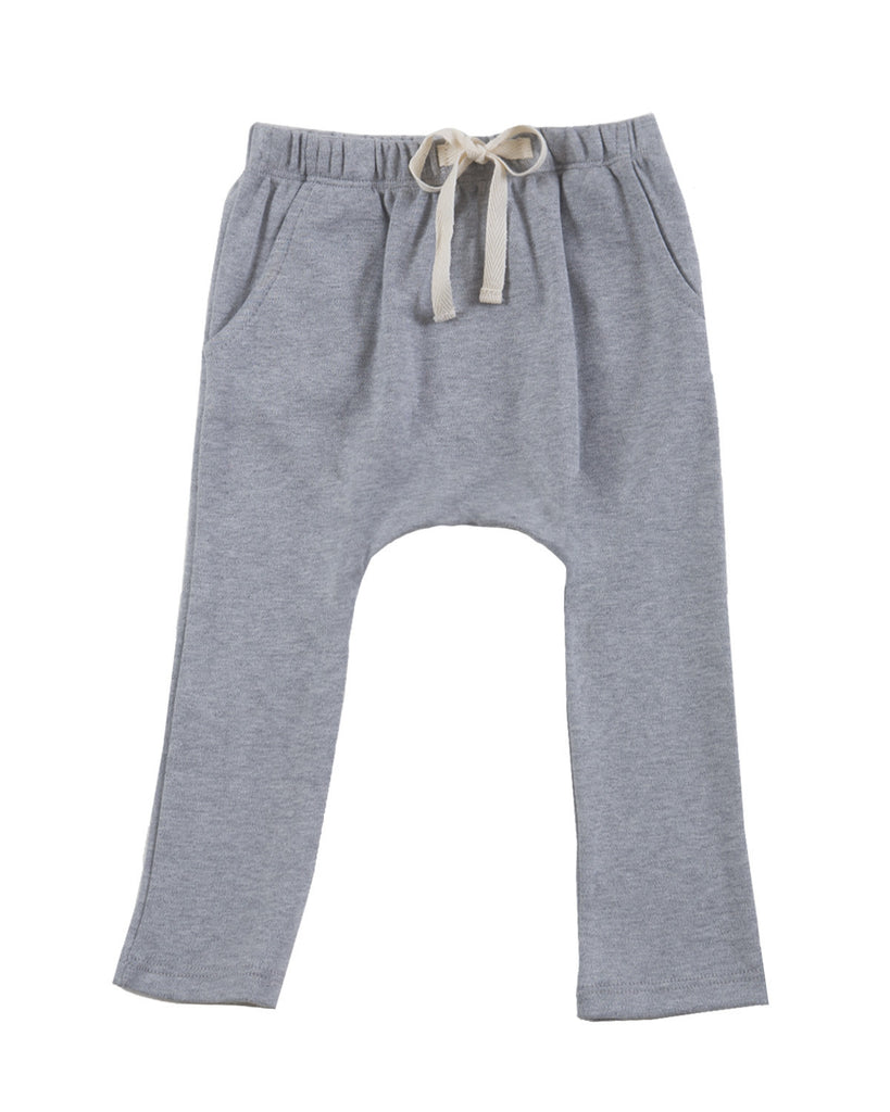 Harem pants with pockets - grey melange