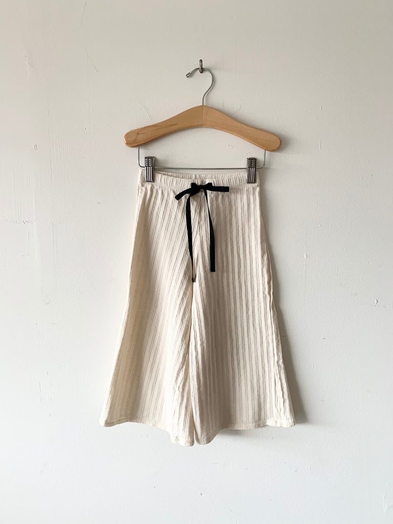 organic cotton palazzo pants - natural