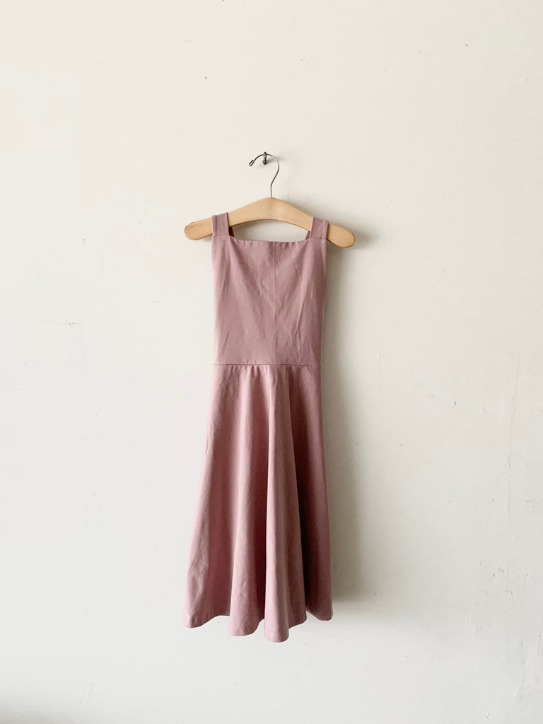 organic cotton pinafore dress - woodrose