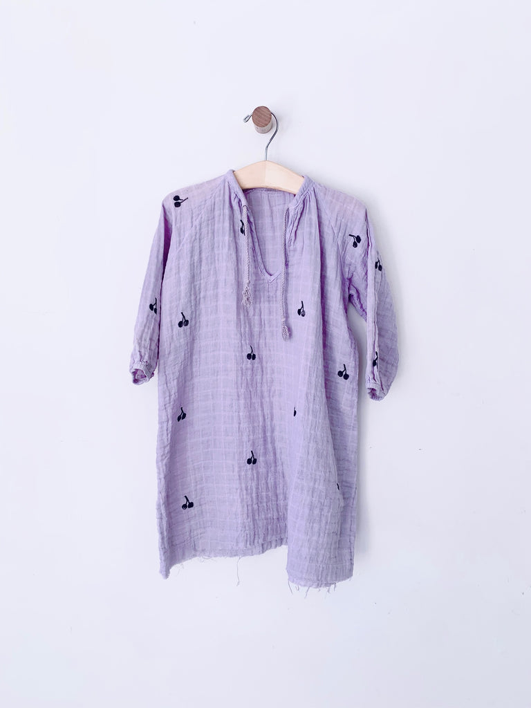 Malibu dress - lavender / black cherry print