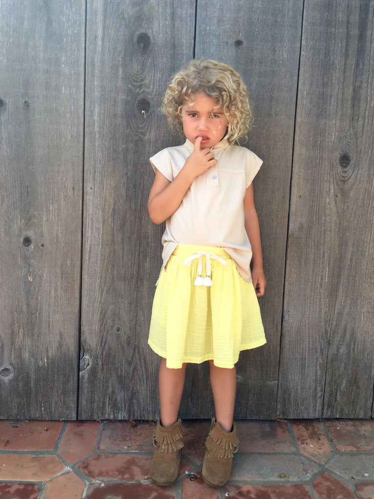 gauze skirt - sun yellow