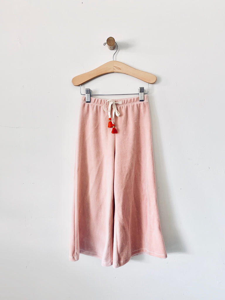 Flare Velour pants - blush