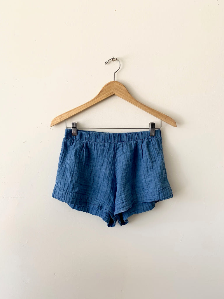 organic cotton santorini shorts - indigo
