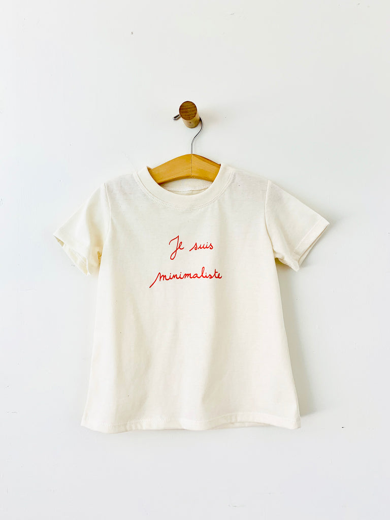 basic t shirt - je suis minimaliste / natural / sample sale