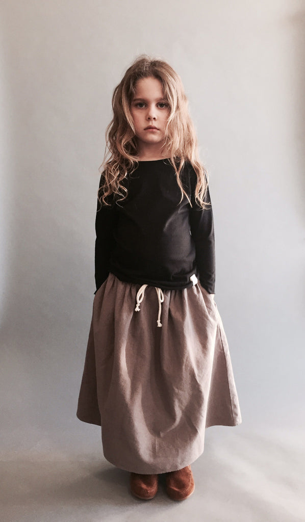 long prairie skirt - sahara grey