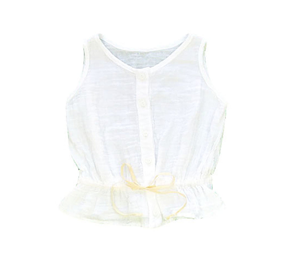 Gauze Top - White