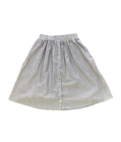 Buttondown Skirt - Pinstripe