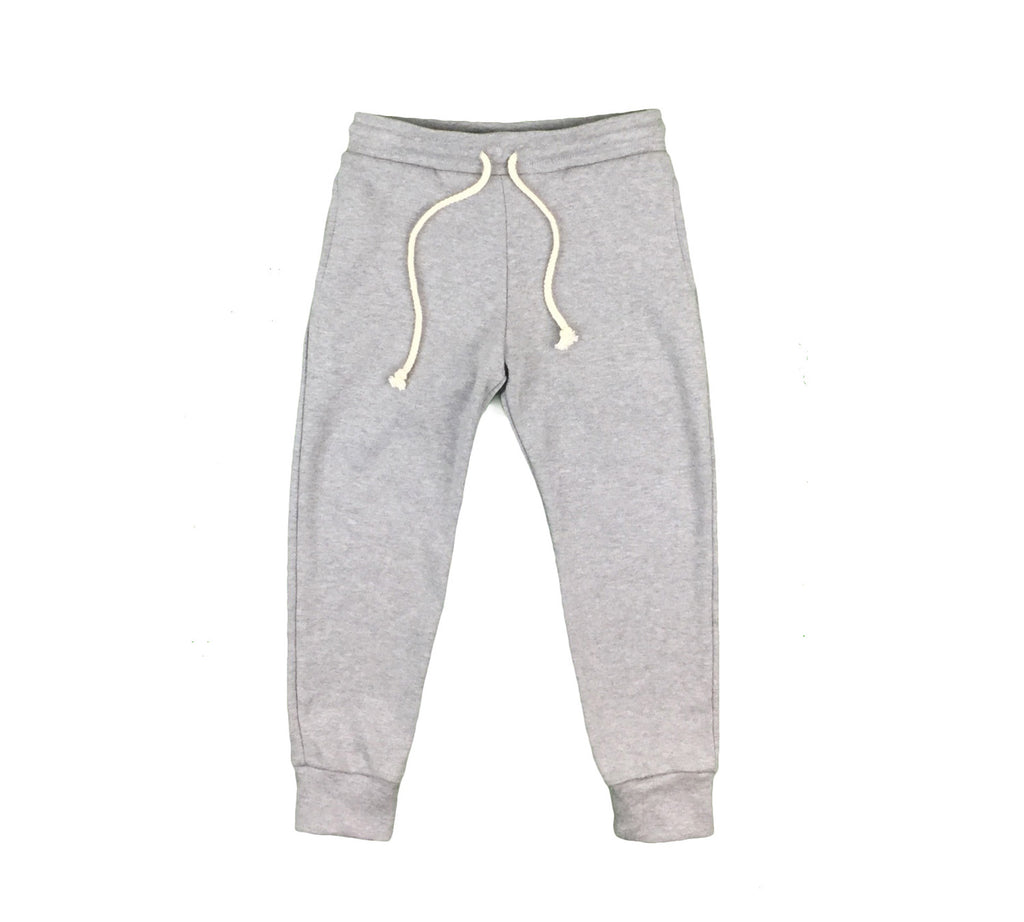 organic cotton joggers - grey melange