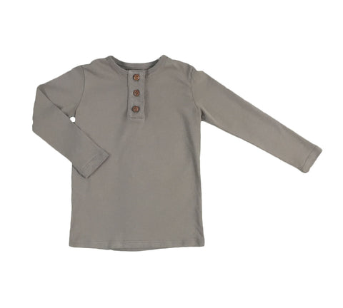 henley with wide placket - malt