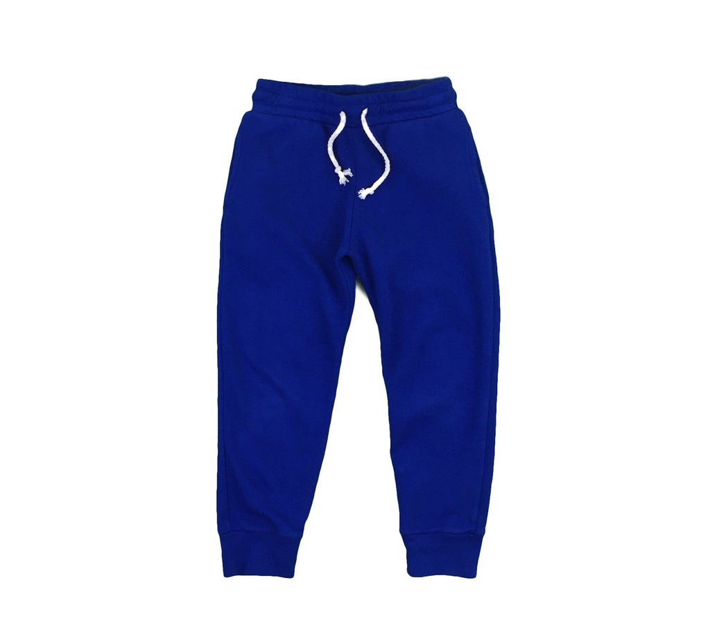 organic cotton joggers - greece blue