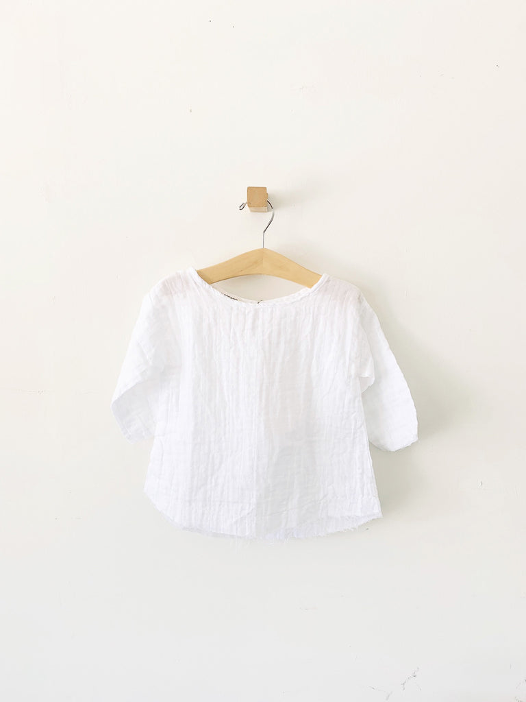 mallorca top - white