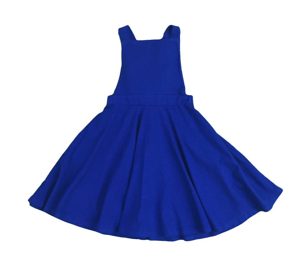 overall dress - greece blue