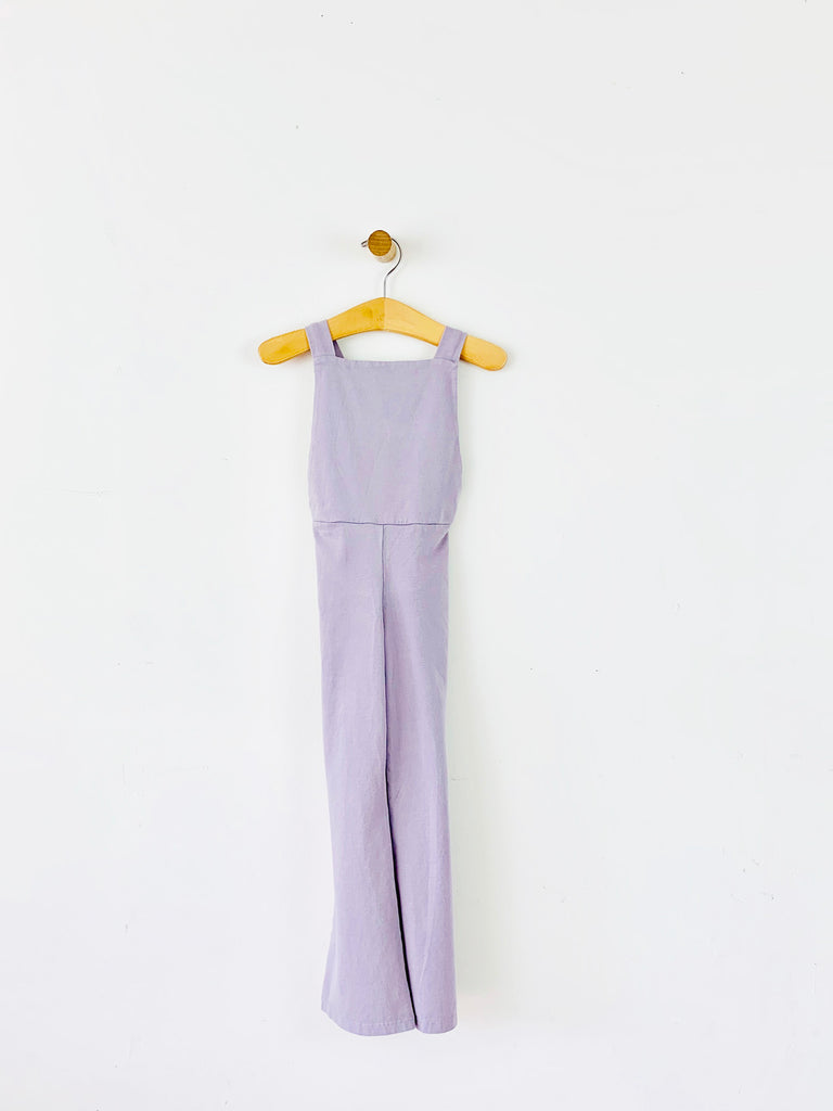 bell bottom overall - lavender  /  sample sale