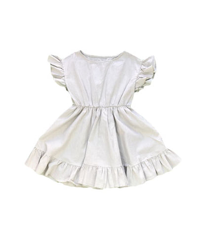 Ruffle Dress - Ash