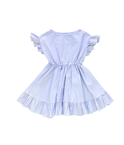 Ruffle Dress - Periwinkle