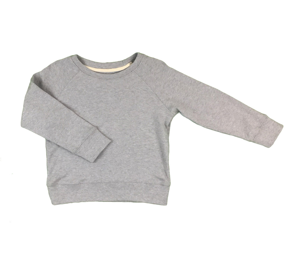 organic cotton sweatshirt - grey melange