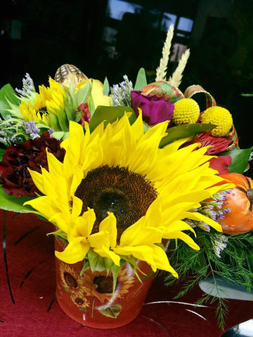 Sunflower mixed arrangment Fall