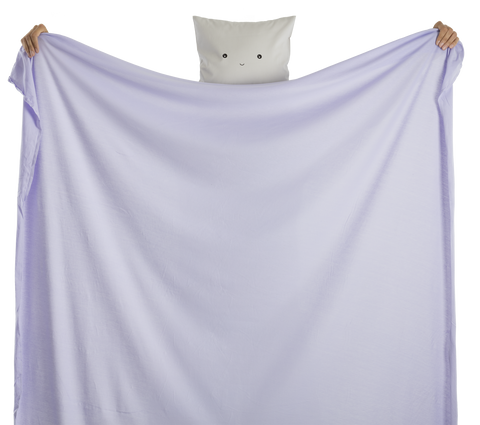 fabric - 100% dyed jersey cotton organic certified - lavender