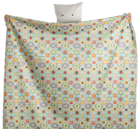 fabric - Caleiodoscopio 100% digitally printed organic canvas cotton