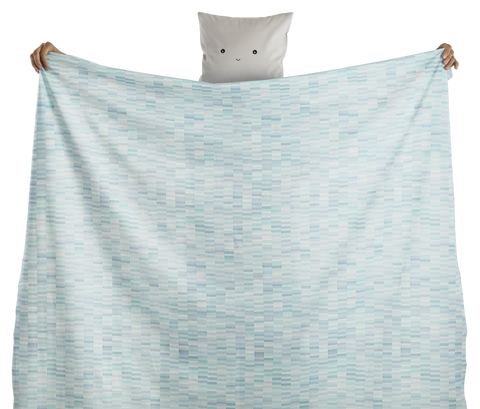 fabric - Pastelli 100% digitally printed cotton voile organic certified - azure