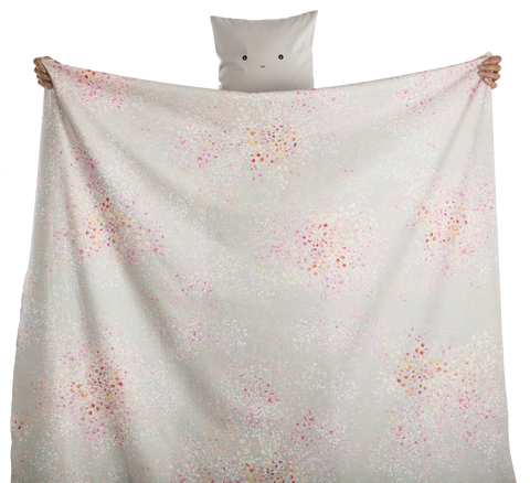 fabric - Petali 100% digitally printed cotton voile organic certified - pink