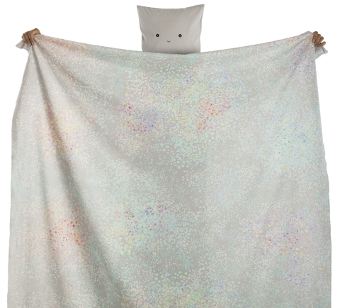 fabric - Petali 100% digitally printed cotton voile organic certified - rainbow