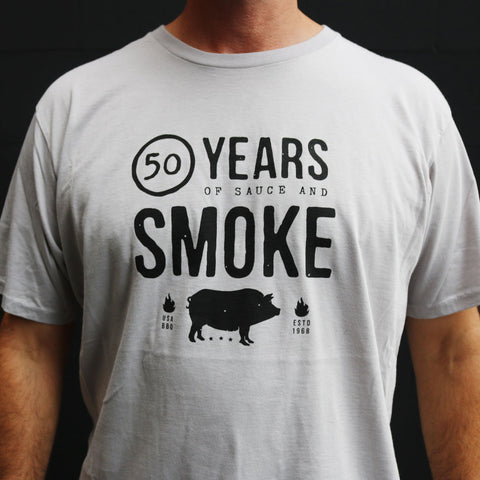 50 YEARS OF SAUCE & SMOKE T-SHIRT