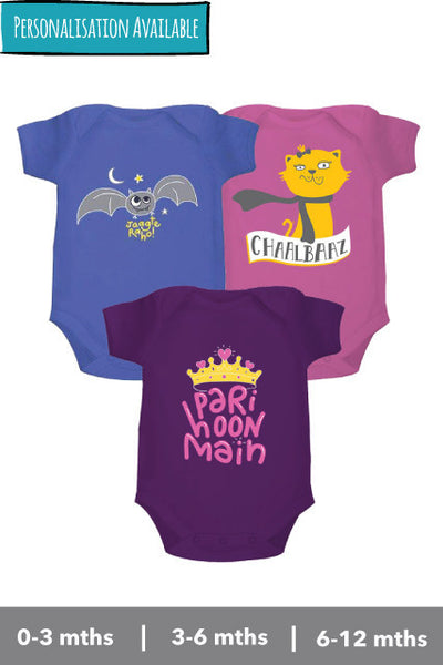 Onesies set for girls from zeezeezoo organic cotton, perfect for gifting