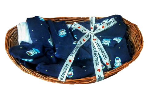 Owls Baby Essential Gift Basket (5pc)