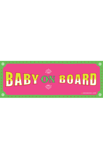 Baby on Board Car Decals - Pink