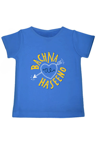 Bachana Ae Haseeno Bollywood Tee/ Tshirt BLUE HalfSleeve personalised from zeezeezoo India online