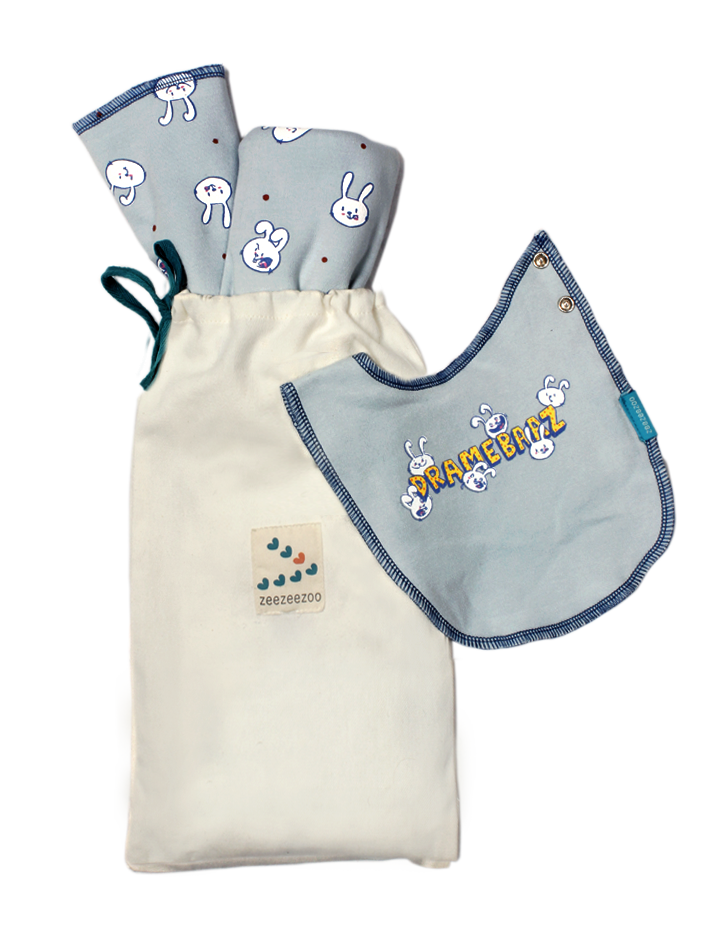Dramebaaz - BeeBeeBoo Gift Set (Blanket, Burp Cloth, Reversible Bib)