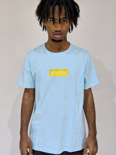Worthy Box Tee - Aqua Blue