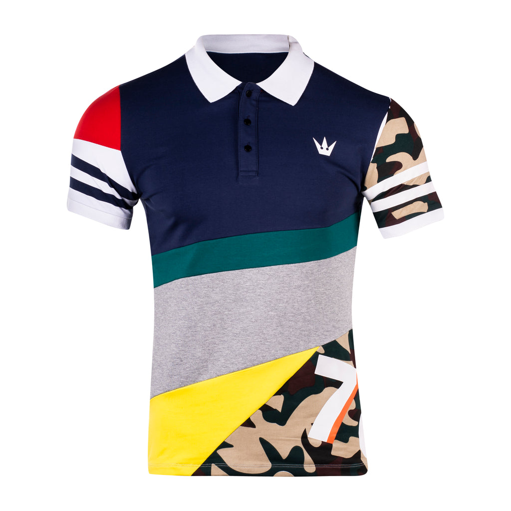 Multicolored Polo Tee with Shorts - WORTHY