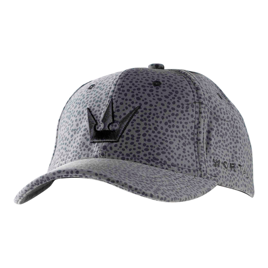 Worthy Suede Crown Dad Hat - Gray Leopard Print