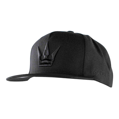 Worthy Crown Snapback - Black/Black