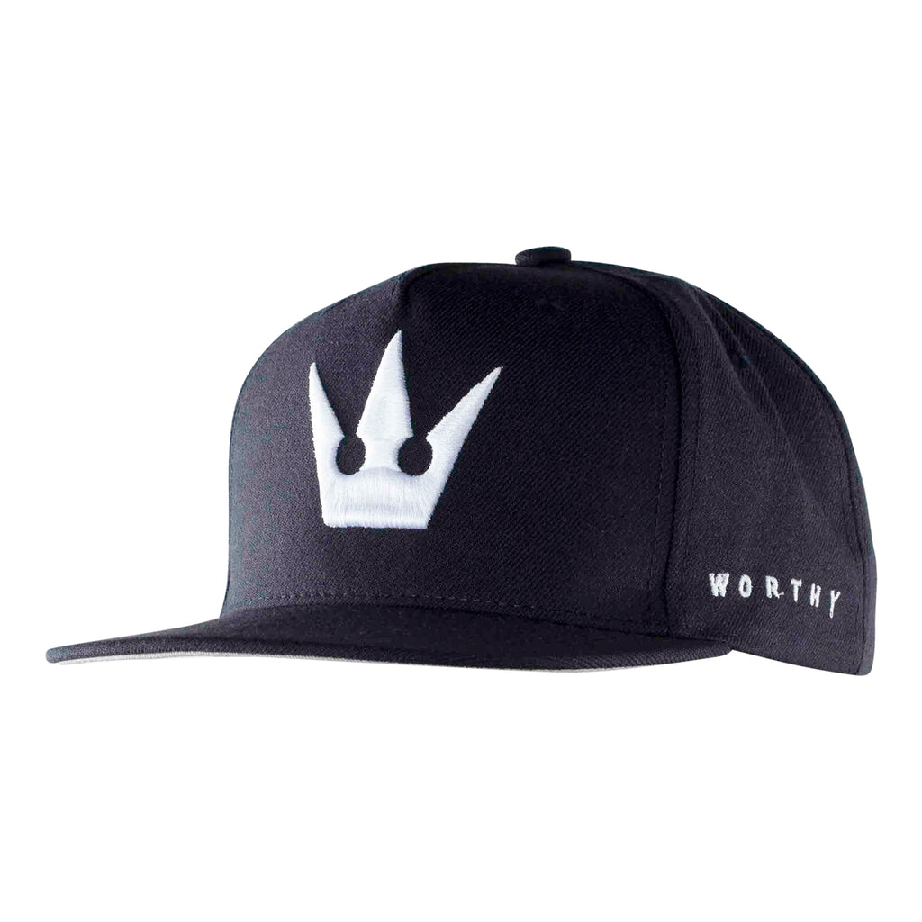 Worthy Crown Snapback White - Navy Blue