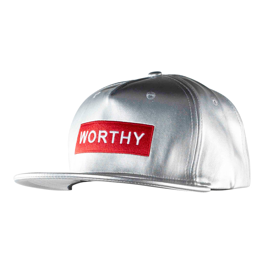 Worthy Box Snapback Red/White - Silver