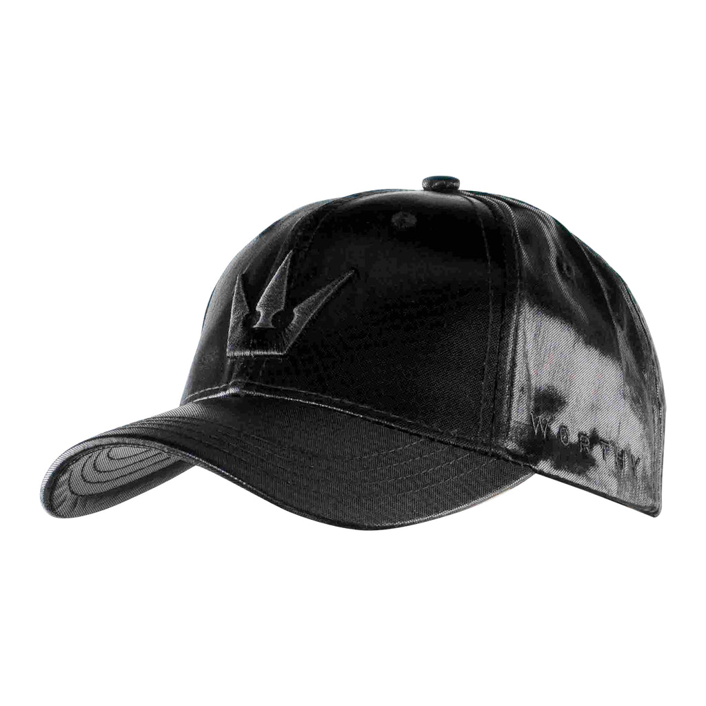 Worthy Crown Dad Hat - Shiny Black