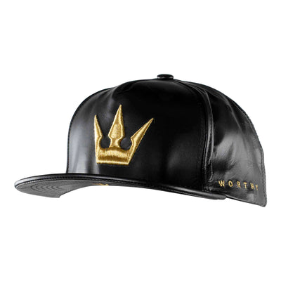 Worthy Crown Strapback - Black/Gold
