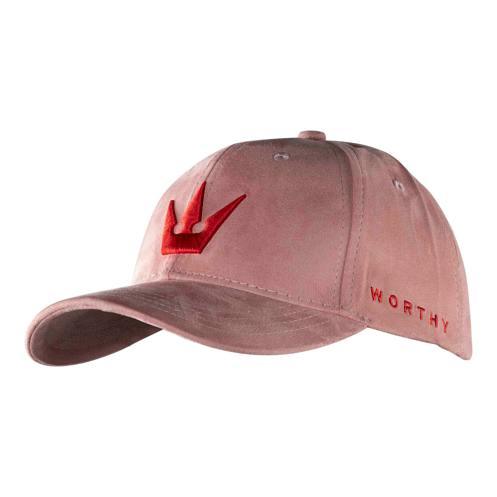 Worthy Crown Strapback Red - Pink Suede