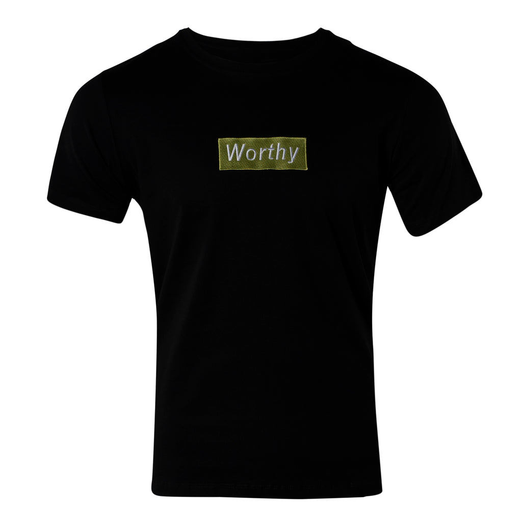 Worthy Box T-Shirt Lime Green - Black