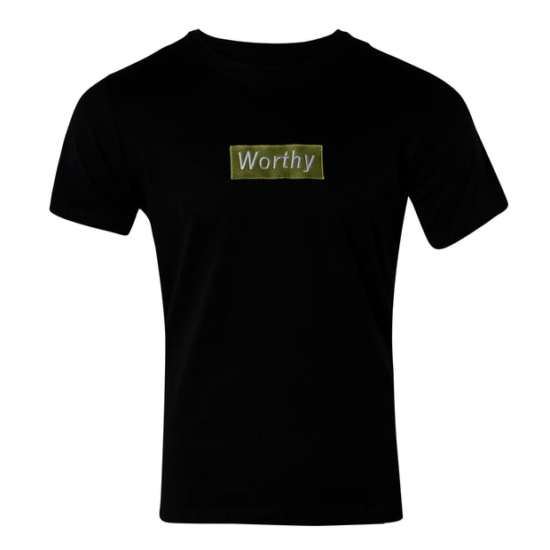 Worthy Box Tee - Black