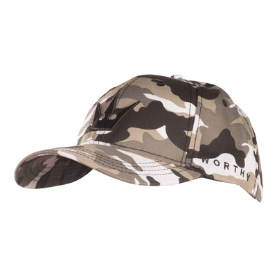 Worthy Crown Dad Hat - Grey Camo