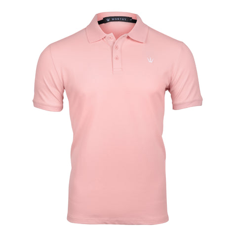 WORTHY PINK POLO