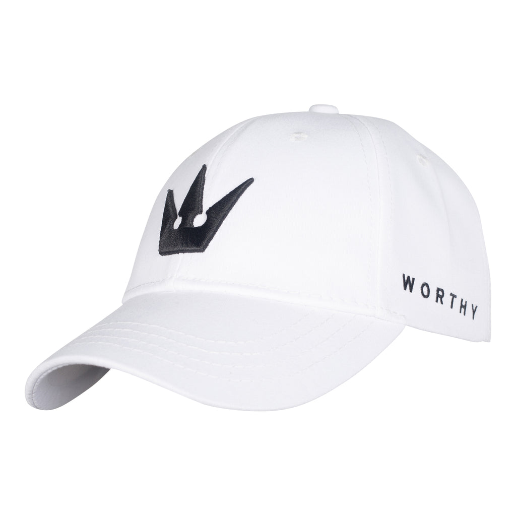Worthy Crown Dad Hat - White