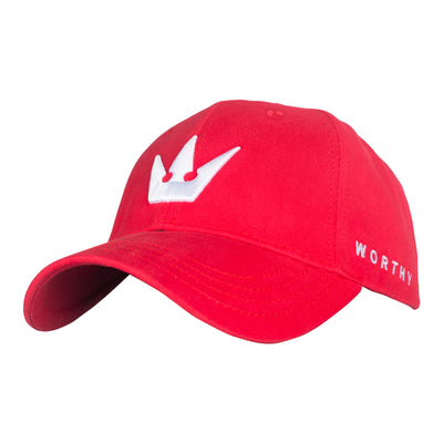 Worthy Crown Dad Hat - Red