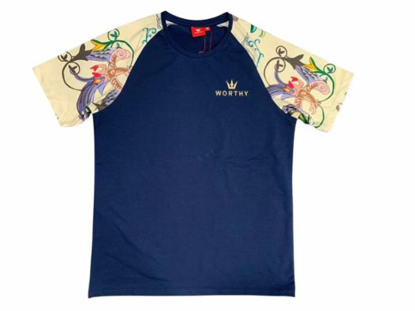 Worthy Summer Graphic Navy Blue Tee